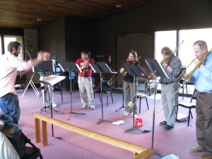 Sackbut Workshop group session
